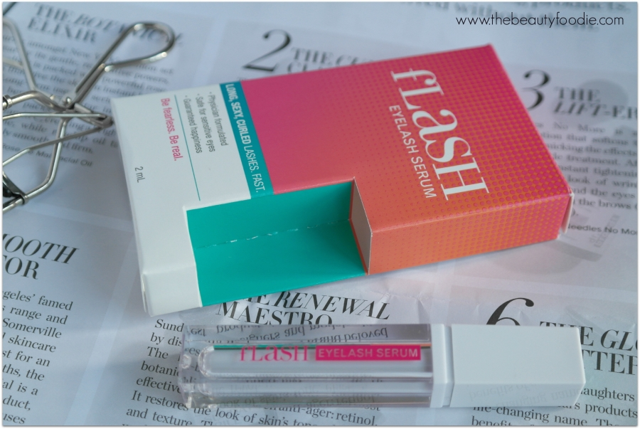 flash eyelash serum packet