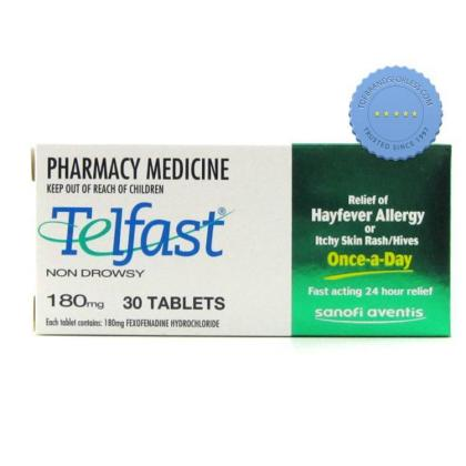 Telfast 180mg 30 Pack Also Known as Allegra