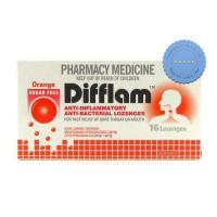 Buy Difflam Orange Sugar Free Throat Lozenges 16 Pack