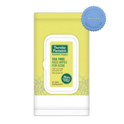 Buy Thursday Plantation Tea Tree Face Wipes for Acne - Prompt Dispatch