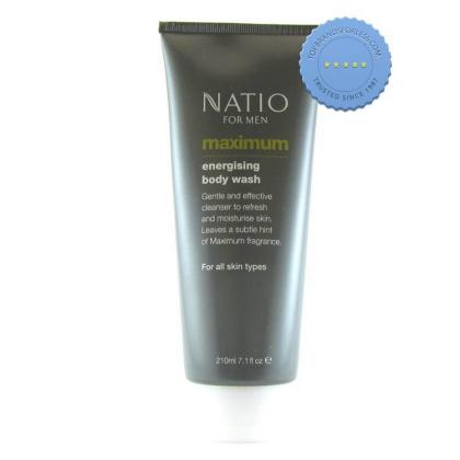 Buy Natio Mens Maximum Energising Body Wash 210ml
