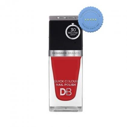 Buy db designer brands quick colour nail polish 564 poppy red -