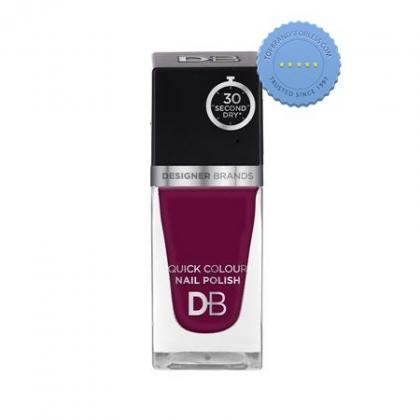 Buy db designer brands quick colour nail polish 571 aubergine -