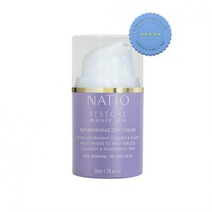 Buy Natio Restore Mature Skin Replenishing Day Cream 50ml online -