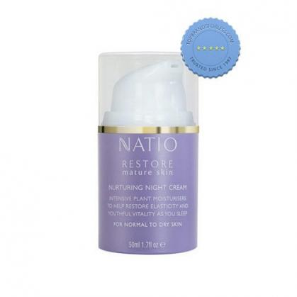Buy Natio Restore Mature Skin Nurturing Night Cream 50ml online -