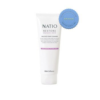 Buy Natio Restore Mature Skin Delicate Foam Cleanser 100ml online -