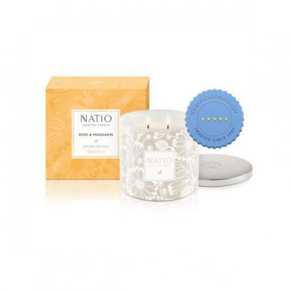 Buy natio candle rose mandarin 280g - Prompt Dispatch