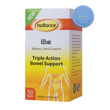 Buy Radiance IBX Triple Action Bowel Support 50 Tablets