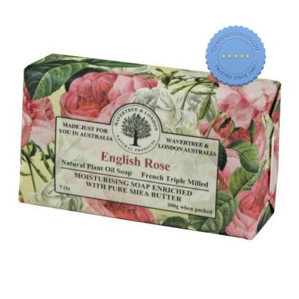 Wavetree and London English Rose Natural Plant Oil Soap
