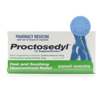 Buy Proctosedyl Suppositories 12 Pack