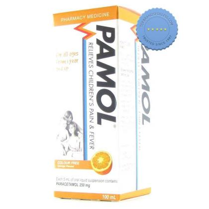 Buy Pamol All Ages Colour Free 250mg 200ml -