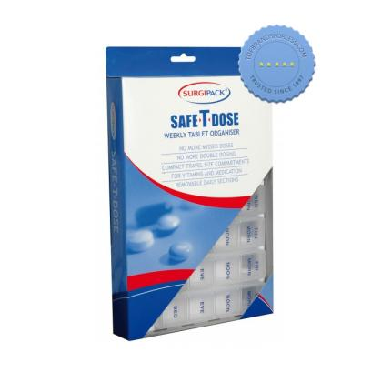 Buy Surgipack Safe-T-Dose Weekly Tablet Organiser - Prompt Dispatch