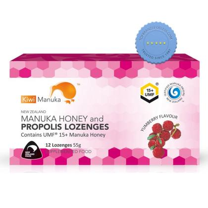 Kiwi Manuka UMF15 Manuka Honey and Propolis Lozenges 12 Yumberry