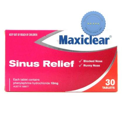 Buy Maxiclear Sinus Relief 30 Tablets - Sinus Headache