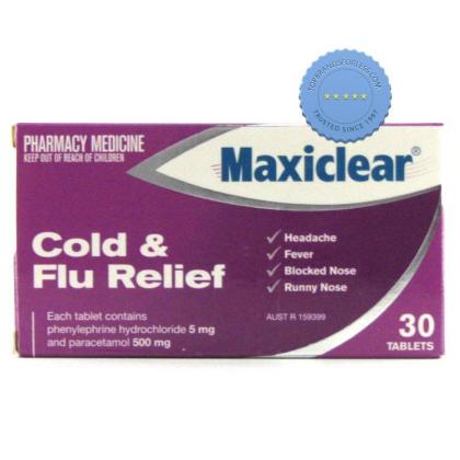 Buy maxiclear cold + flu relief 30 -