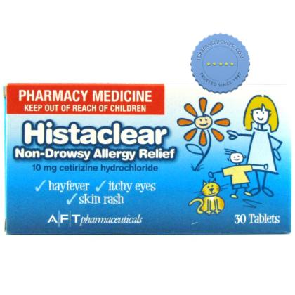 Buy histaclear 10mg tablets 30s -