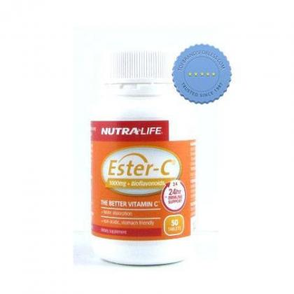 Nutralife Ester C 1000 mg Plus Bioflavonoids 50 Tablets