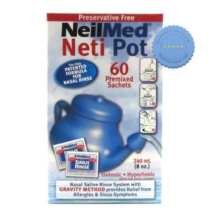 Buy sinus rinse neti pot and sachets -