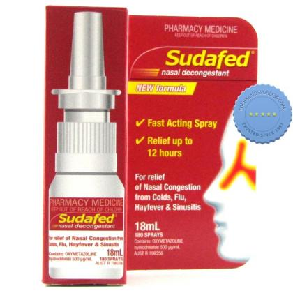 Buy Sudafed Nasal Decongestant Spray 20ml -