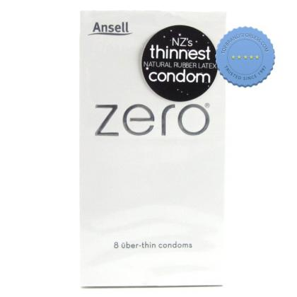 Buy Ansell Zero Condoms 8s -