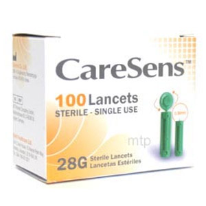 Buy caresens 28g 100 lancets ste single use -