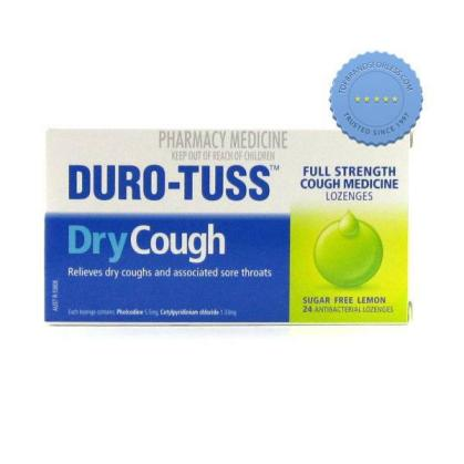 Buy duro tuss chesty sugar free lozenges 24 lemon -