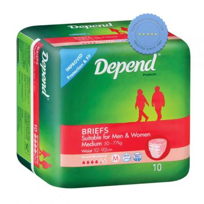 Buy Depend Fitted Briefs Medium x 10