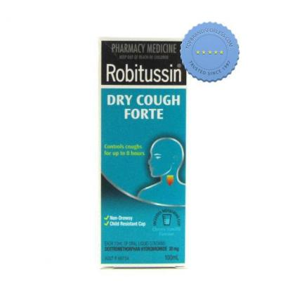 Buy robitussin dry cough forte blue 100ml -