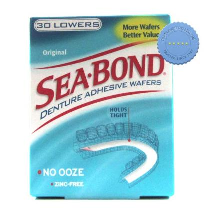 Buy Seabond Original Lower Denture Adhesive Wafers 30