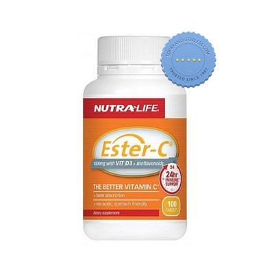 Nutralife Ester C 1000mg with Vitamin D3 Plus Bioflavonoids 100 Tablets