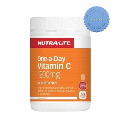 Buy Nutralife One a Day Vitamin C 1200mg 120 Chewable Tablets