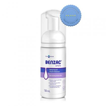 Buy Benzac Daily Facial Foam Cleanser 130ml -