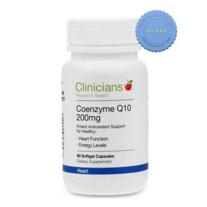 Buy Clinicians Coenzyme Q10 200mg 60 Soft Gel Capsules
