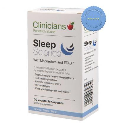 Clinicians Sleep Science With Magnesium and ETAS 30 Vegetable Capsules