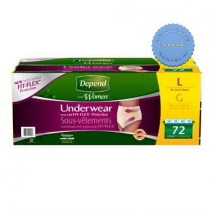 depend realfit for women underwear large max absorbency 8 count -