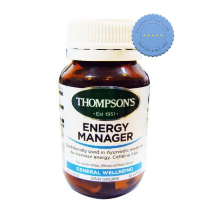 Buy Thompsons Energy Manager 60 Capsules - Prompt Dispatch