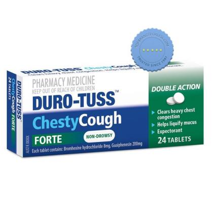 Buy Duro Tuss Chesty Cough Forte 24 Tablets - Prompt Dispatch