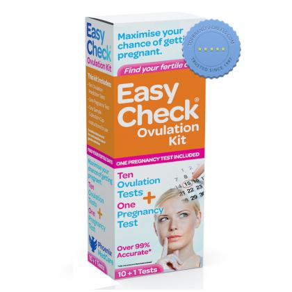 Easy Check Ovulation Kit Plus Pregnancy Test 10 Plus 1 Test