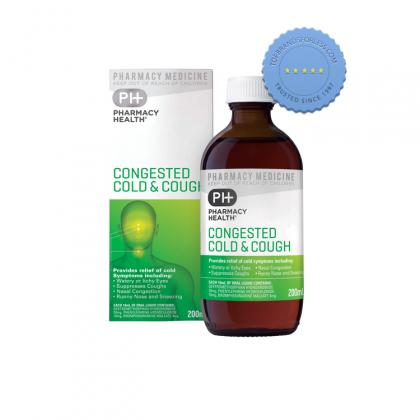 Buy pharmacy health congested cold and cough 200ml - Prompt Dispatch