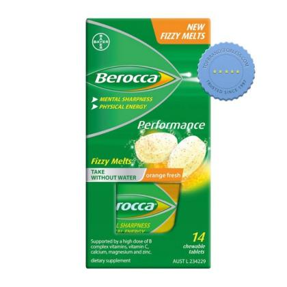 Buy Berocca Performance Fizzy Melts 14 Chewable Tablets