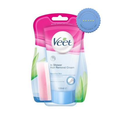 Buy Veet in Shower Hair Removal Cream Sensitive Skin 150ml -