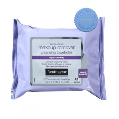 Buy Neutrogena Makeup Remover Cleansing Towelettes Night Calming 25 Wipes -