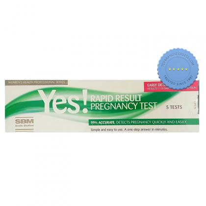 Buy Yes Rapid Result Pregnancy Test 5 Test - Prompt Dispatch