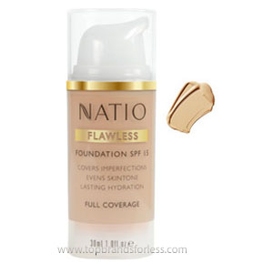 Natio Flawless Foundation SPF 15 Light Honey