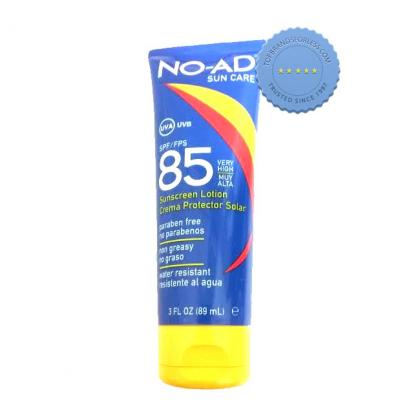 Buy No Ad Sun Care SPF85 Sunscreen Lotion 89ml - Prompt Dispatch
