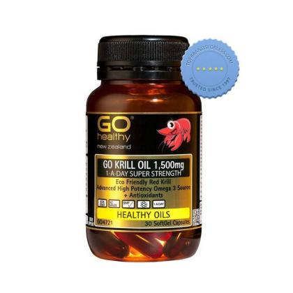 Go Healthy Go Krill Oil 1500mg 1 A Day Super Strength 30 Soft Gel Capsules -