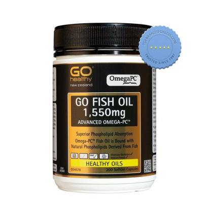 Go Healthy Go Fish Oil 1550mg Advanced Omega PC 200 Softgel Capsules