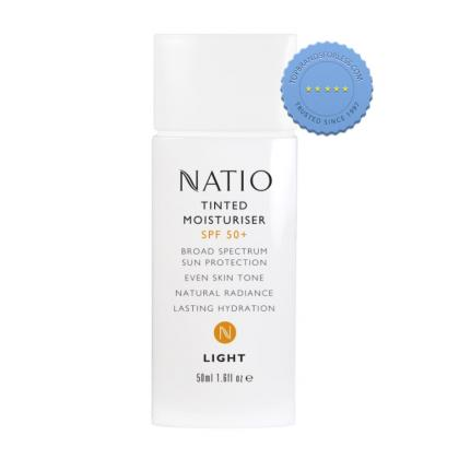 Buy Natio Tinted Moisturiser SPF50 50ml Light - online Ships Fast