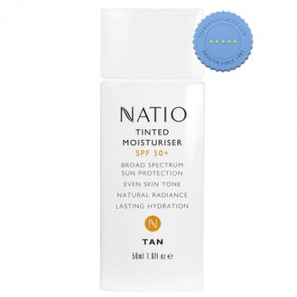 Buy Natio Tinted Moisturiser SPF50 50ml Tan online - Ships Fast