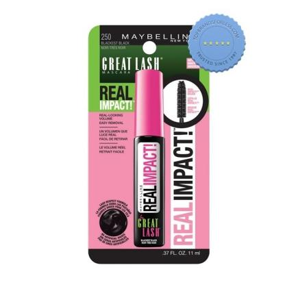 Buy maybelline great lash mascara real impact blackest black -